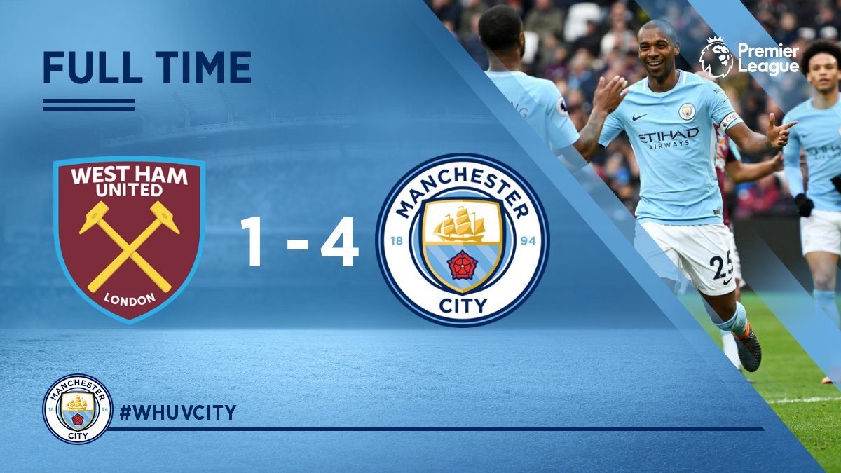 Chấm điểm kết quả West Ham 1-4 Manchester City