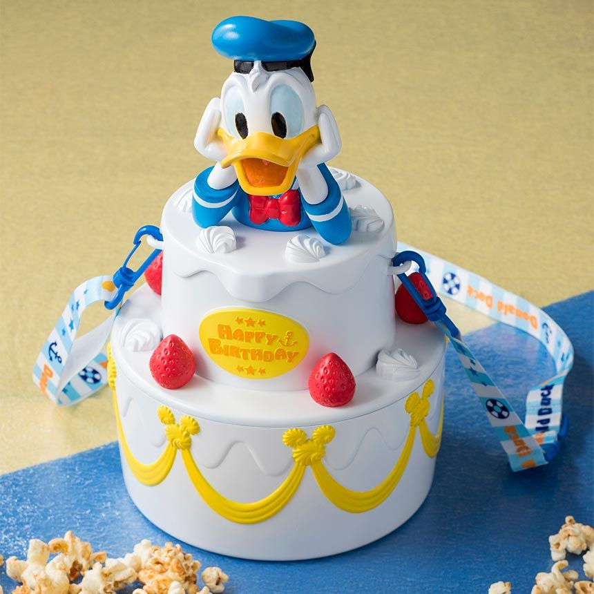 Tdr Explorer On Twitter Donald Duck Birthday Cake Popcorn Bucket