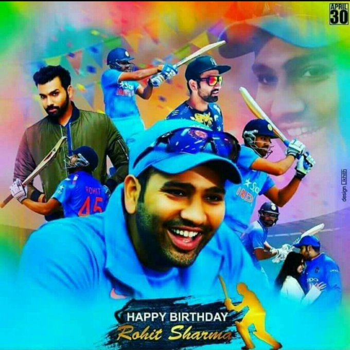 Happy birthday to my lovable hitman rohit sharma love you forever