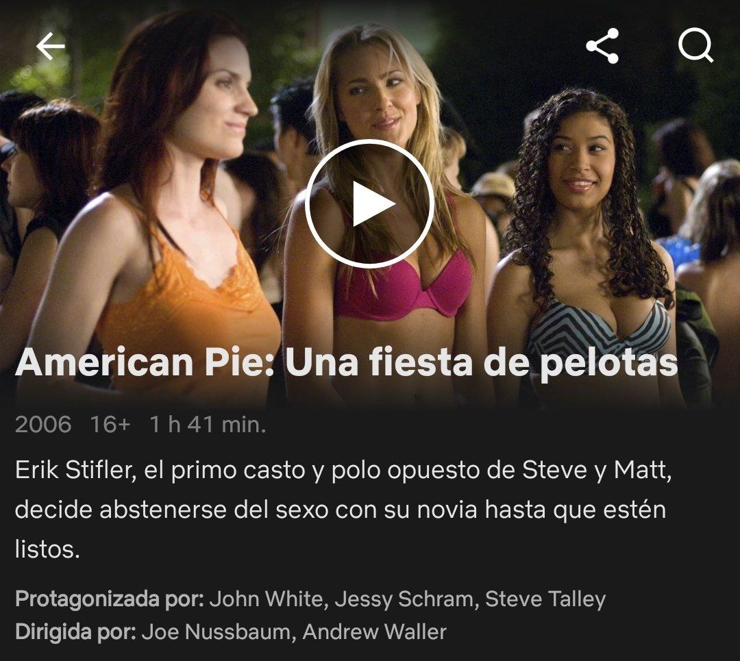 """American Pie 5 Una Fiesta De Pelotas gallo de netflix twitter પર: """"17/4/18 american pie: una"""