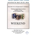 Image for the Tweet beginning: R & B Weekend at