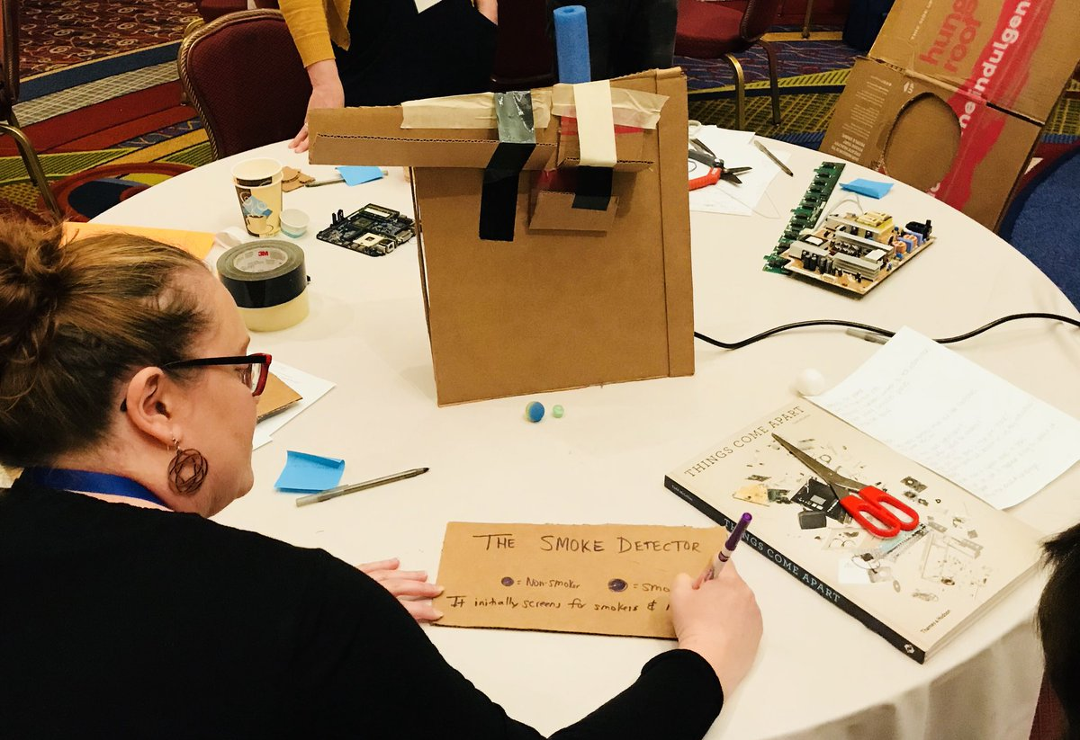 Inventing a real-world use case for someone else's machine takes empathy &amp; creativity - a sense of humor helps, too  @stevenEno #ATLISac #designthinking<br>http://pic.twitter.com/D7HF8sbz2c