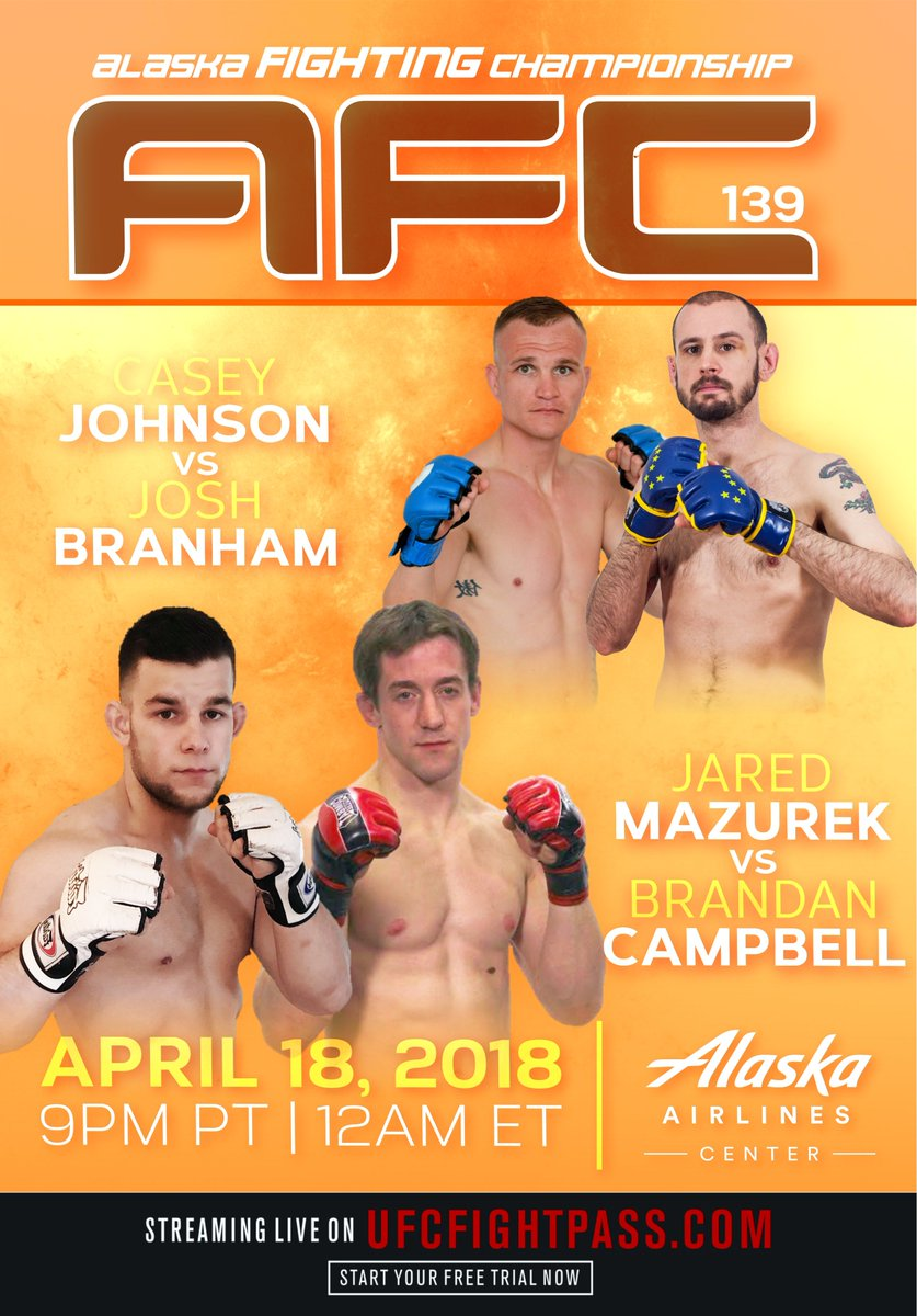 #UFCFIGHTPASS returns to #TheLastFrontier tomorrow night for #AFC139!  @AlaskaFighting never disappoints!