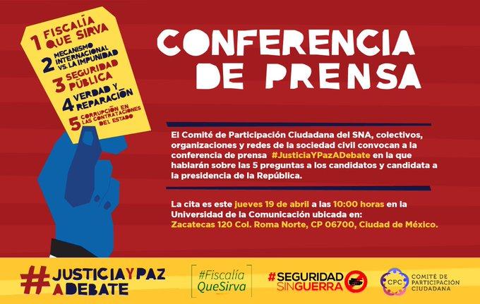 #ConferenciaDePrensa Foto