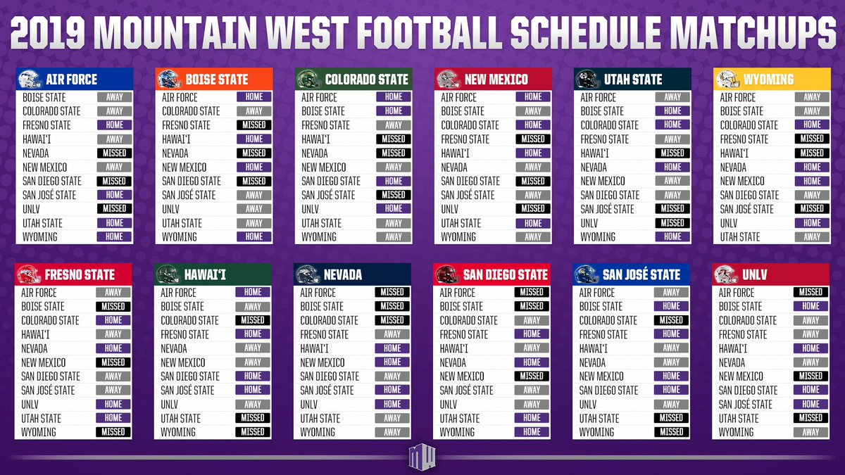 Boise State 2019 Football Schedule Mountain West on Twitter: