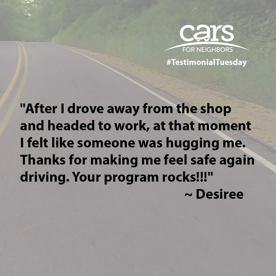 A nice note from a client who received help with car repair services recently. #RestoringHope #TestimonialTuesday<br>http://pic.twitter.com/D2Z8YkKICc