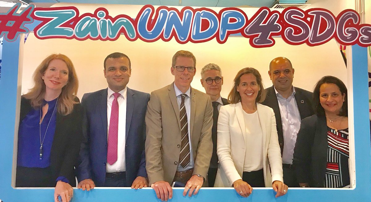 Very proud to see #ZainUNDP4SDGs partnership kicking the start for innovation and technology. Private Sector and @UN key drivers of #SDGs and the commitment to #LeaveNoOneBehind @ASteiner #UNDP <br>http://pic.twitter.com/KNqptWxDtj