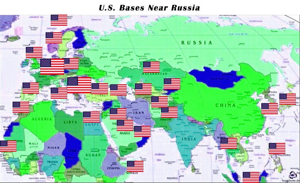 Frank Ho On Twitter Vladimir Putin Publish A World Map And Mark - Map-of-all-army-bases-in-the-us