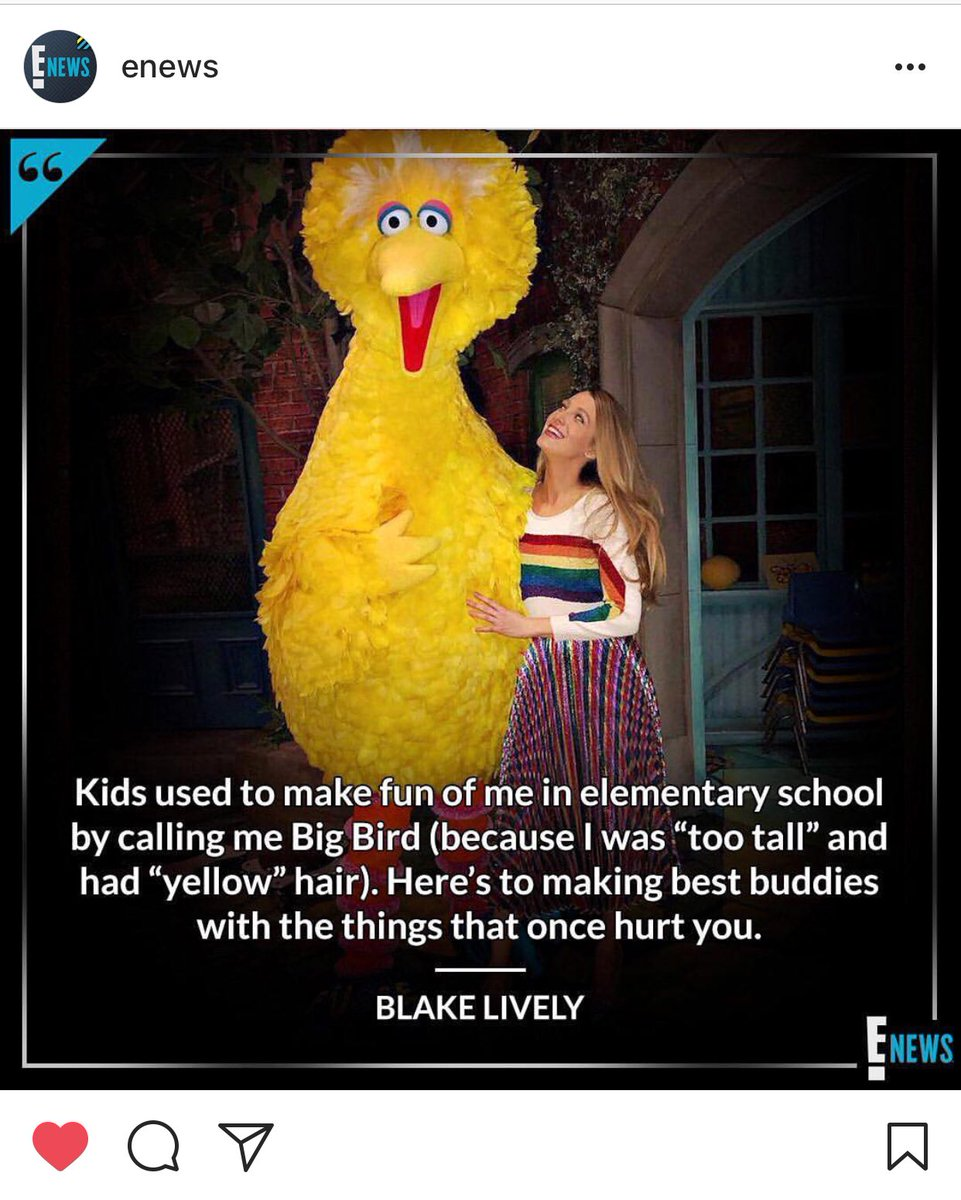 I've never identified with something more in my life 🙆🏼♀️ @blakelively @enews