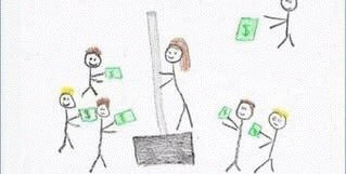 Official sketch of Stormy Daniels receiving bribe money from Trumps legal team... 😹😹😹