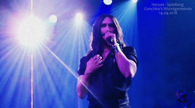 @ConchitaWurst  #Heroes #Spielberg #KulturimZentrum  14.04.2018    A hero is an ordinary individual, who finds the strength to persevere and endure in spite of overwhelming obstacles. #Conchita #ConchitaWurst #ConchitaLIVE  on youtube:  https:// youtu.be/q9ENAUijdC8  &nbsp;  <br>http://pic.twitter.com/d66tt6HOpT