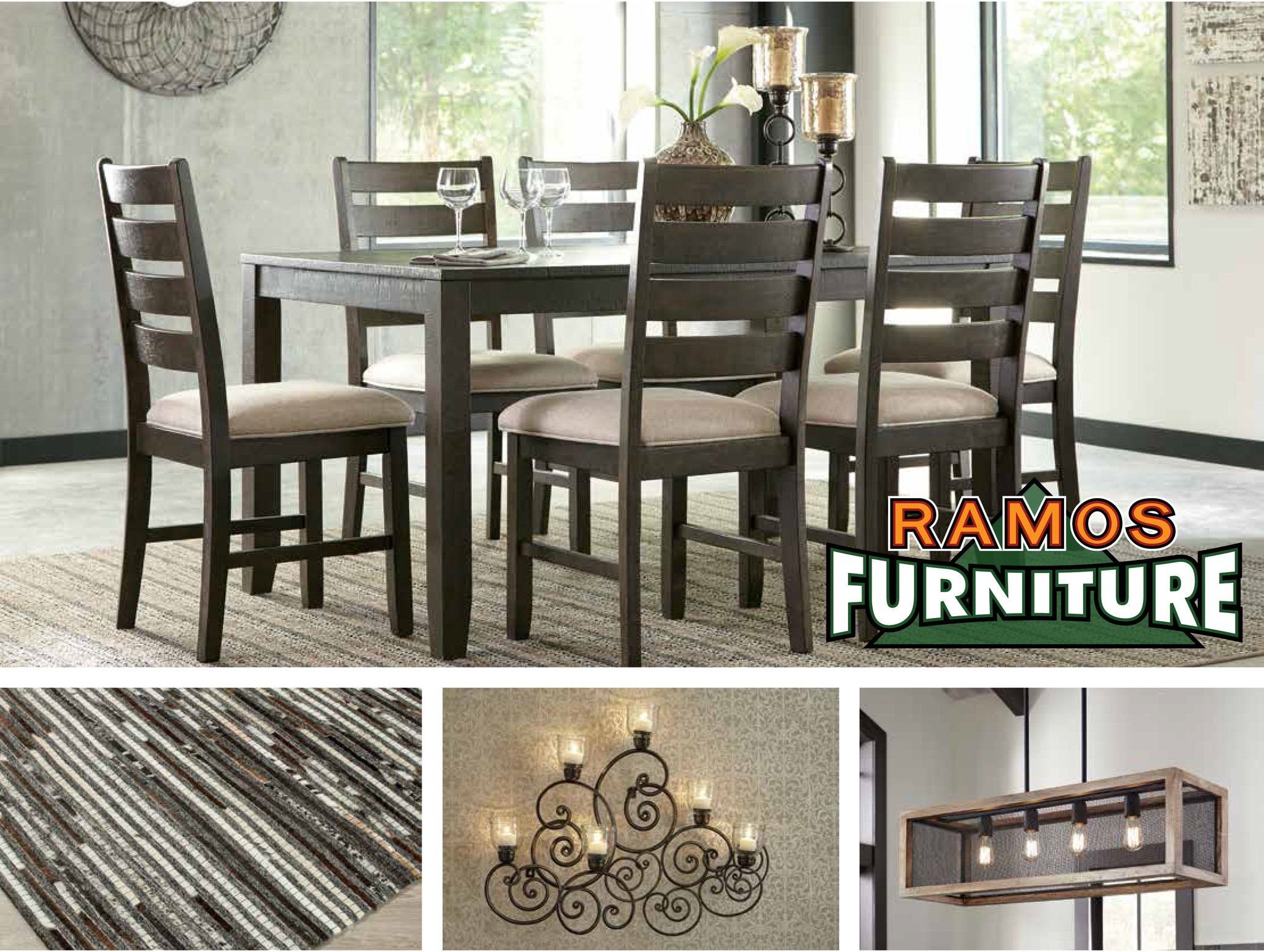 """Ramos Furniture on Twitter: """"Draw inspiration for your dining room"""
