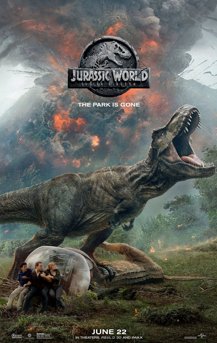 I love that the #JurassicWorldFallenKingdom poster stars a dinosaur who just stubbed his toe