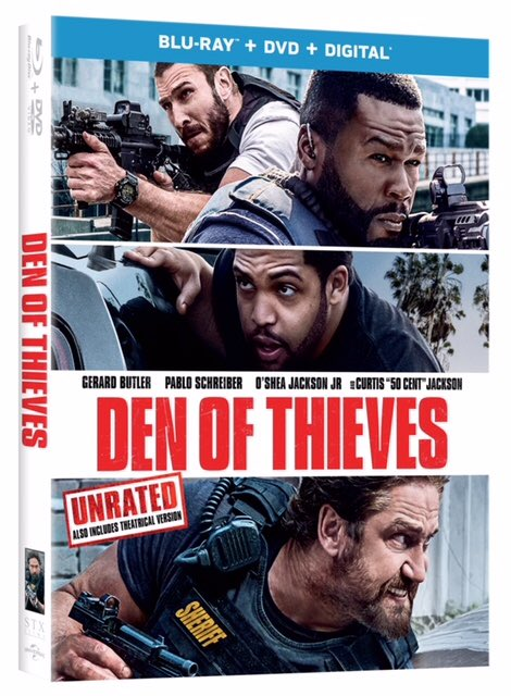 Choose your side in the action packed heist, #DENOFTHIEVES. Own it on Digital April 10th and on Blu-ray and DVD April 24th.