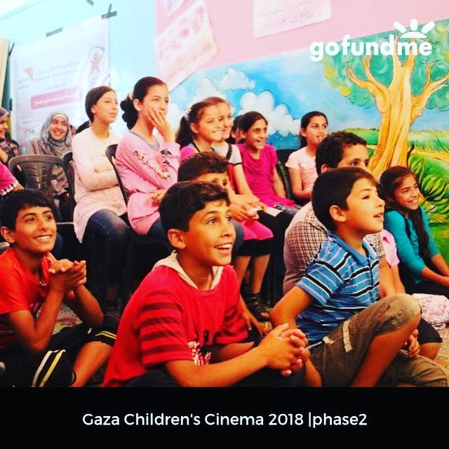 Because of the fabulous outcome of @GazaCinema initiative in 2017:  https:// mailchi.mp/cde9a56de566/g aza-children-cinema-news-and-aspirations?e=45c239da8c &nbsp; …  &gt;&gt; PLZ support our second @gofundme campaign for the second phase:  https://www. gofundme.com/GazaChildrenCi nema2018-2019 &nbsp; …  #Gaza #children #Peace #Cinema #film #relief #borders #Palestine<br>http://pic.twitter.com/k8GPk5AxKZ