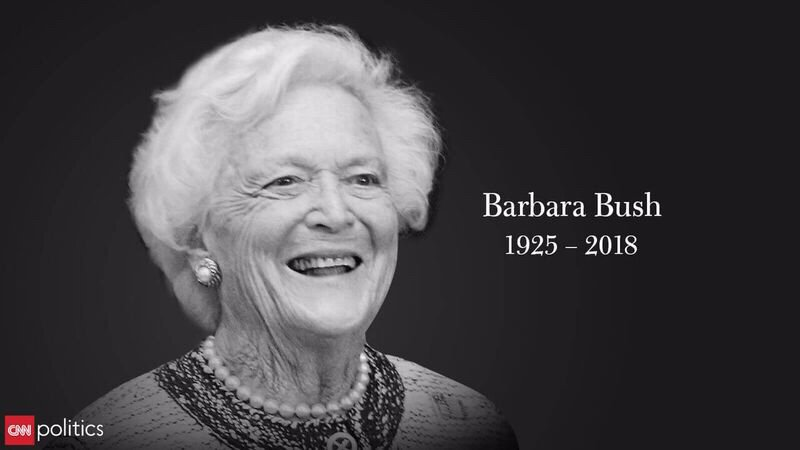 Image result for barbara bush rip 1925-2018