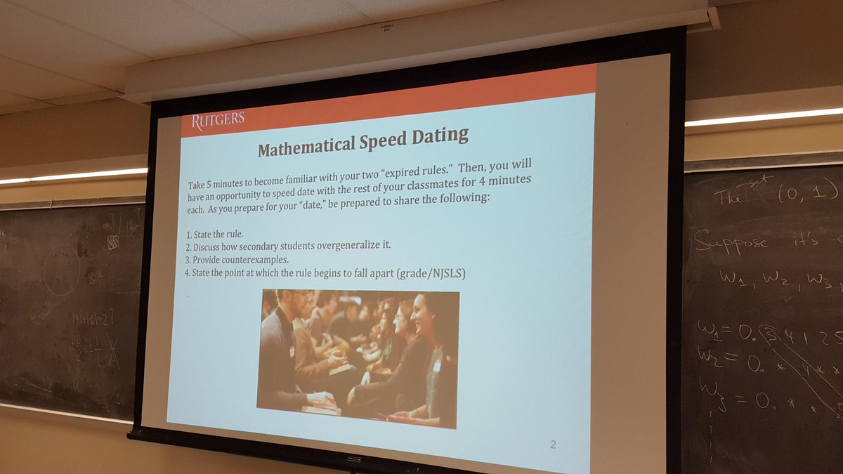 speed dating math