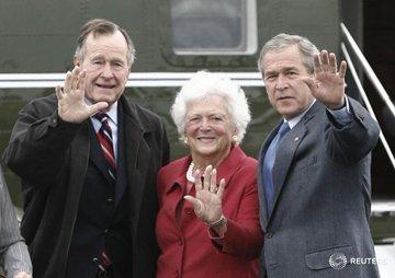 DbBed7OW4AAM9j0?format=jpg&name=360x360 EUA. Morreu Barbara Bush, mulher e mãe de Presidentes