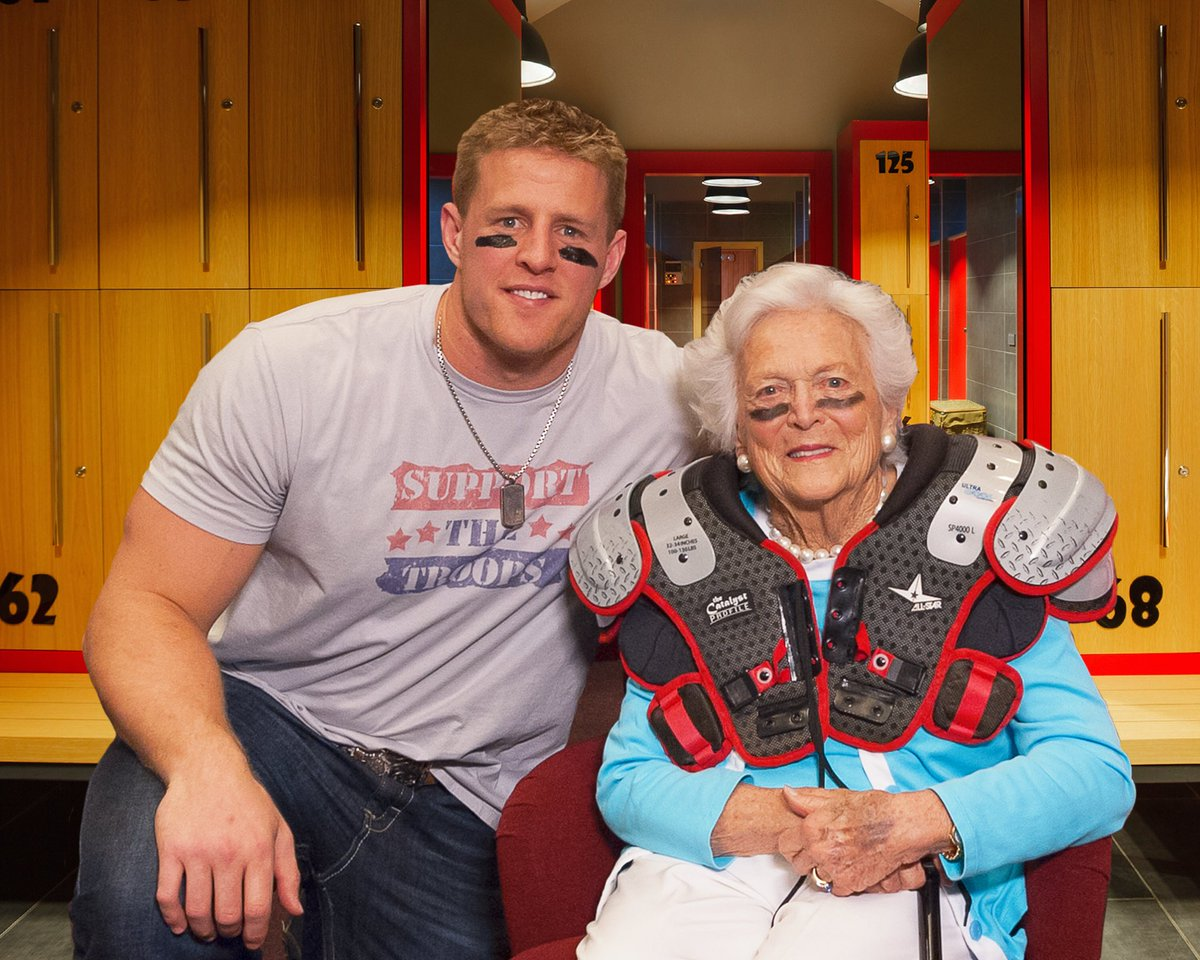 Jj watt jjwatt twitter rest in peace mrs barbara bush you were a beautiful light in this world and i am forever thankful for your friendshippicitteryuzvq7o8ah kristyandbryce Image collections