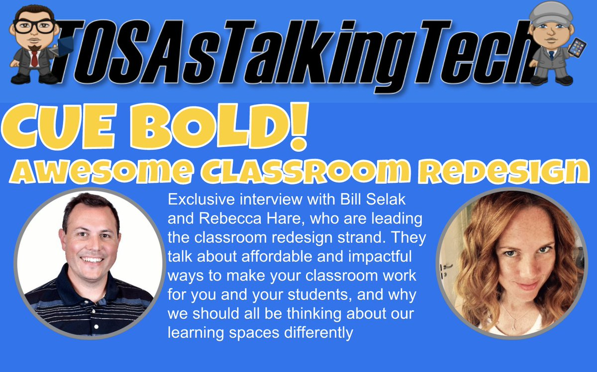 @TosasTalkinTech Tom and Mike spotlight #CUE super members Bill Selak and Rebecca Hare as we get ready for #CUEBOLD on May 5-6 in Laguna Beach!! Listen here!  https:// goo.gl/5XbgZp  &nbsp;   #WeAreCUE<br>http://pic.twitter.com/R4iX7TwlLC