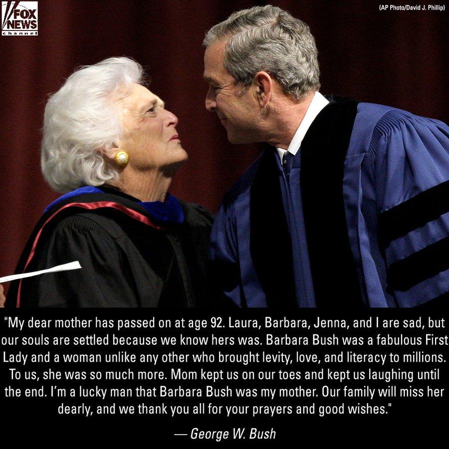 DbBjwqNXcAAGczL?format=jpg&name=900x900 EUA. Morreu Barbara Bush, mulher e mãe de Presidentes