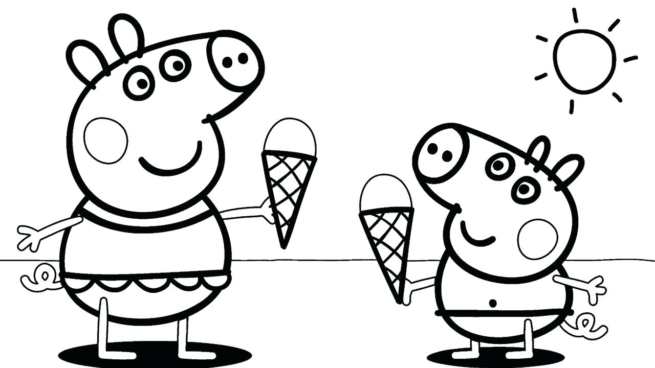 """Clown coloring on Twitter: """"peppa pig eat ice cream 🍨🍦 in ..."""