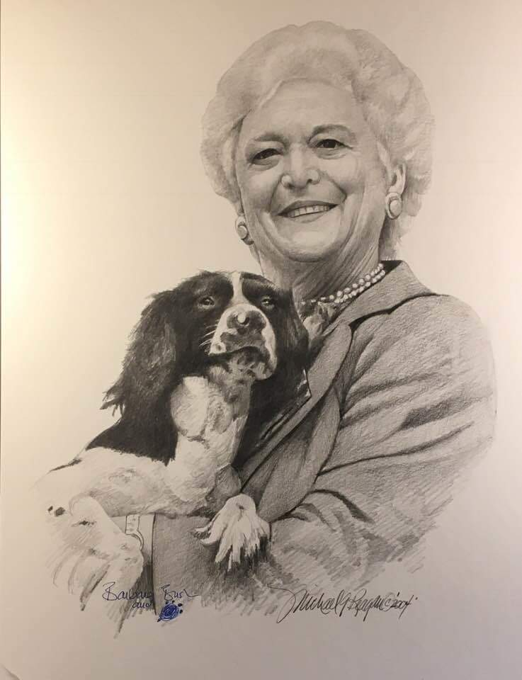 With a heavy heart, we say goodbye to #BarbaraBush, she was the epitome of classy, patriotic and elegant. You will be missed #FirstLady. Photo credit- Michael Reagan Fallen Heroes Project @flagguy3063 @SEALofHonor @TheMikeEllis @AmericanLegion <br>http://pic.twitter.com/WCbxeP48xf