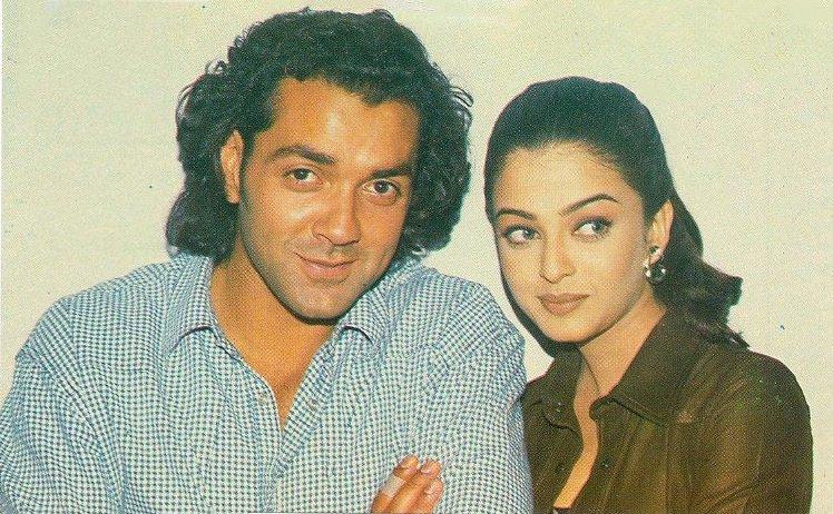 "Movies N Memories on Twitter: ""Bobby Deol with Aishwarya Rai in this  postcard photo, taken during the making of her debut film opposite him, Aur  Pyaar Ho Gaya (1997)… https://t.co/0dAbziojU3"""