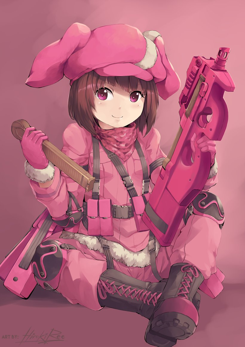 レン (SAO Alternative/GGO)#sao_anime #GGO #llenn #P90 #GirlsWi