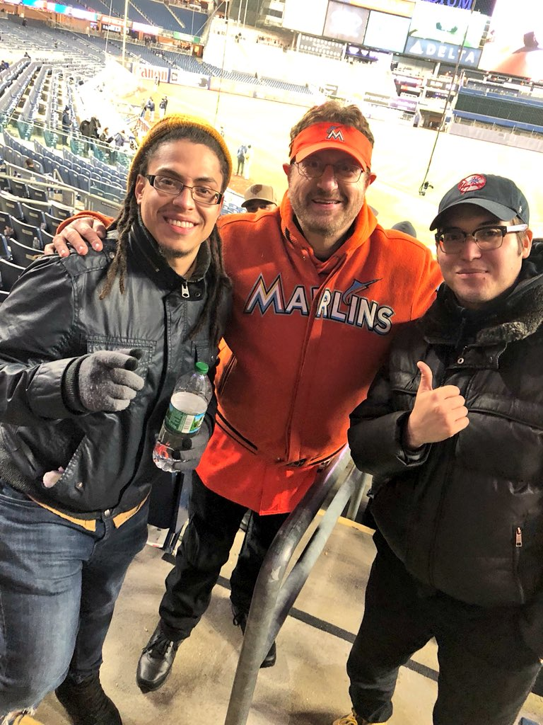 It was cool meeting the @Marlins_Man  #PinstripePride  #Yankees #Marlins <br>http://pic.twitter.com/wXYNImNujO