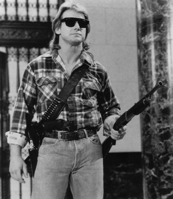 Happy 64th Birthday Rowdy Roddy Piper  Pictured here in the movie They Live.