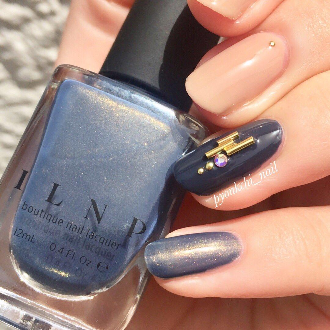 濃い色が落ち着かなくなってしまった➰🙃  #nail #selfnail #セルフネイル #Ducato #ILNP