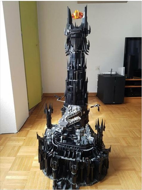 Tower of Sauron LEGO set @LEGO_Group https://t.co/PpOJgM56Ws