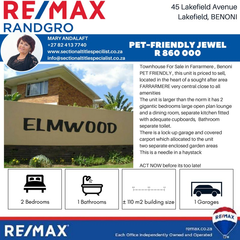 If you want to know more about this property? - Call Mary Andalaft 082 413 7740 or email info@sectionaltitlespecilalist.co.za #sectionaltitle #townhouse #apartments #cluster #homes #housesforsale #realestate #realestateagent <br>http://pic.twitter.com/DCROrvuUqc