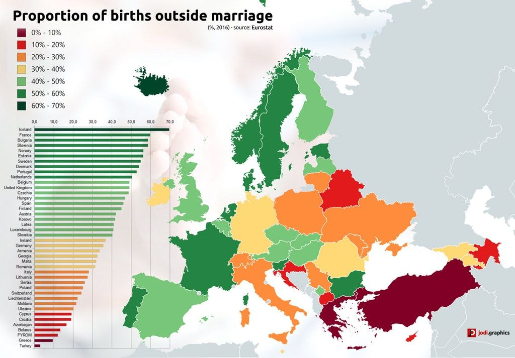 Simon Kuestenmacher on Twitter Map shows proportion of births