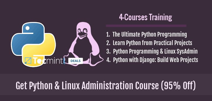Professional #Python &amp; #Linux Administration Bundle - Discover the Many Uses of Python &amp; Strive Towards a Successful IT #System #Administration Career with This 4 Course Training Bundle  https://www. tecmint.com/learn-python-l inux-administration-course/ &nbsp; …  via @tecmint<br>http://pic.twitter.com/DovqqoTnF9