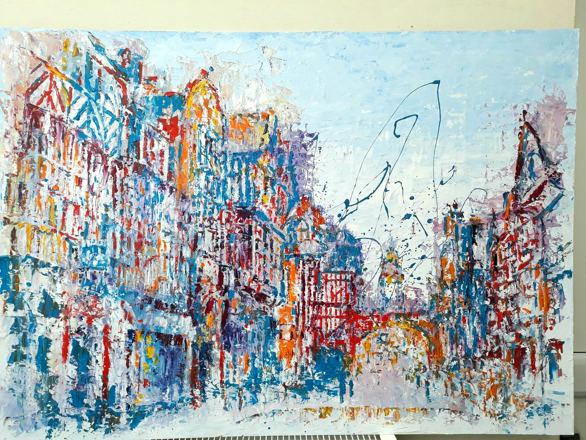 #Chester #Chestertweets @Awesome_Chester @ChesterIndies @chestercityLFC #architecture #cheshirehike #mufc large oil painting @chesterartsfair @chestertravel @chesterboat @CitySSChester a good day you all xx<br>http://pic.twitter.com/Rz0OPYth60