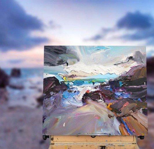 "Sometimes the #light is so good you just can't ignore it... ""Autumn at Mystics Beach"", 35X45cm. #painting #artgallery #autumn #mystics #beach<br>http://pic.twitter.com/ud8jtjMiZw"