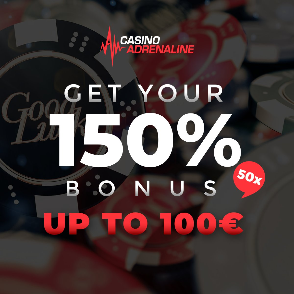 test Twitter Media - Are you ready for today's killer promotion? Get your 150% bonus up to 100 EUR 50x. Bonus and deposit included! 👍😎🎲 #CasinoAdrenaline #TotalJackpot #CasinoAdrenalingaming #casinos #slot #casinoluck #enjoythegame https://t.co/0dUjHLKH2d