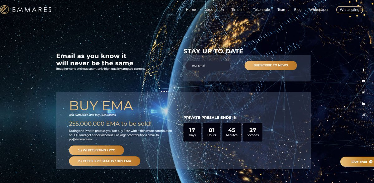 We dressed up our website, made it a little fancier. How do you like it ;)? Now it&#39;s even easier to apply to our last days of Private pre-sale --&gt; just follow step1 and step2 ;).  http:// bit.ly/emmares-home  &nbsp;   #ico #crypto #blockchain #crowdsale #privatepresale #website <br>http://pic.twitter.com/7qJktD1Q7n