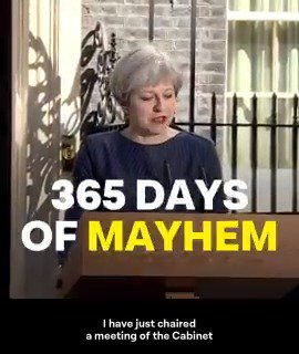 From strong and stable to weak and failing – this is what a year with Theresa May looks like. Hit RT ↓ https://t.co/ZwnY9dJ2fX