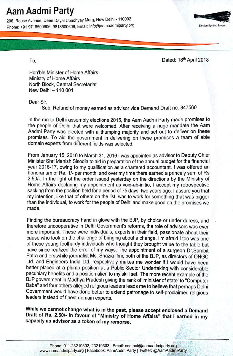 Raghav Chadha On Twitter My Letter To Honble Minister Of Home
