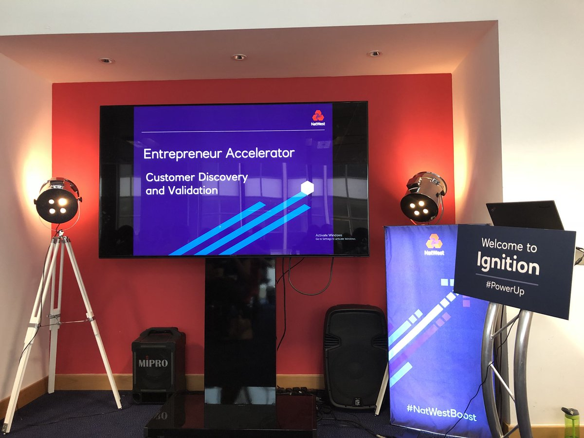 Taking full advantage of @NatWestBusiness #entrepreneur #accelerator #PowerUp focusing on #Customer #Discovery &amp; #Validation #Workshop @LeeCurrier @JoshW_Business @Anna_Midd #OptHR #HR #Business<br>http://pic.twitter.com/J2GeOq5lxr