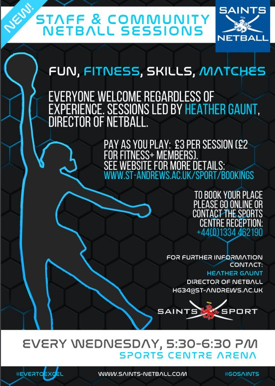 Saints sport saintssport twitter all skill and experience levels welcome members 2non members 3 book now t01334 462190 or esportsreceptionst andrewspicittermwy4lfi6kt publicscrutiny Images
