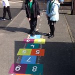 We are making the most of the sunshine and enjoying the new playground markings and exploring our environment. 🌞🌞🌞