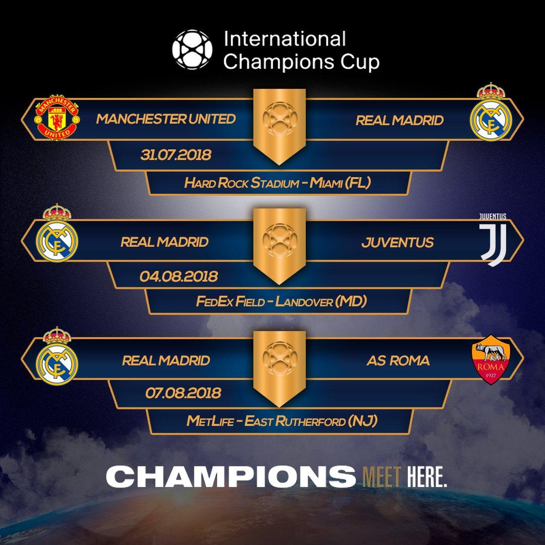 "International Champions Cup: La Galerna On Twitter: ""International Champions Cup. Real"