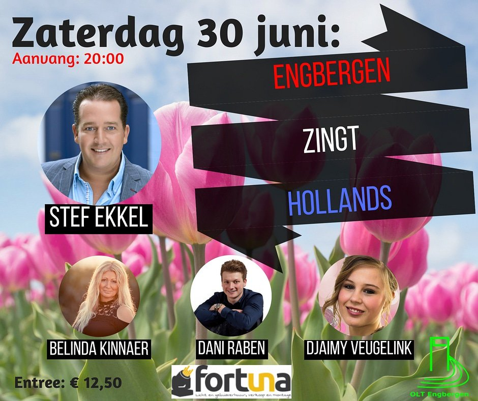 Engbergen zingt Hollands 🎤 Kaarten 👉 https://bit.ly/2HcihbW  #stefekkel #hollands #DaniRaben #belindakinnaer #achterhoek #djaimyveugelink #dinxperlo #hollandsehits #fortunalive #voetbalinside #doetinchem #megapiratenfestijn