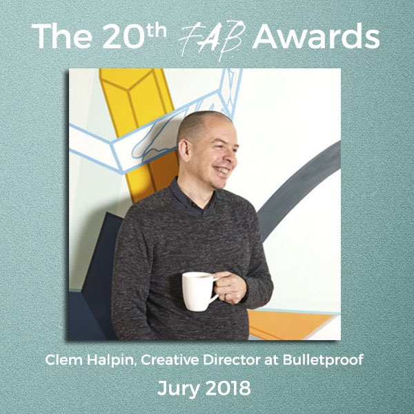 Proud to see our Creative Director, @clemhalpin announced as a judge for this year's FAB awards @fabnewslive #FABAwards2018 #20YearsYoung #design #packaging #branding