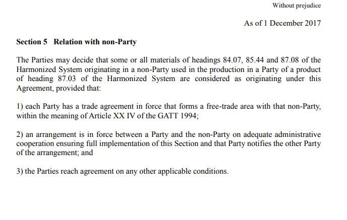 Sam Lowe On Twitter The Eu Japan Jefta Free Trade Agreement Is