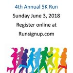 Image for the Tweet beginning: SAVE THE DATE!!!! 4th Annual 5k